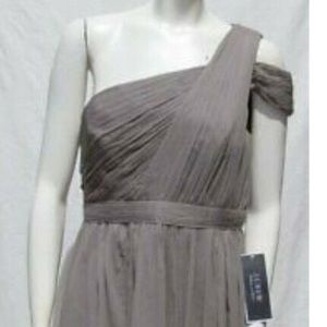 JCrew grey silk dress